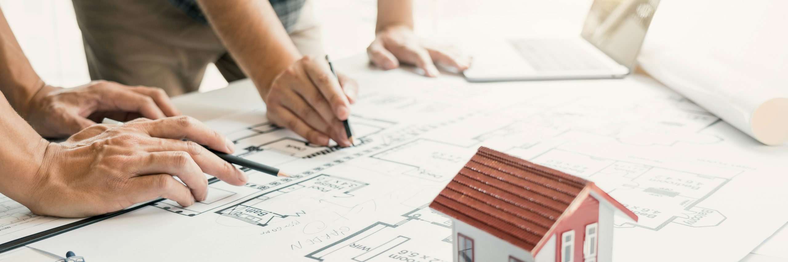 Project Managers are helping to design work on blueprints and collaborate on structural analyzing of project types.